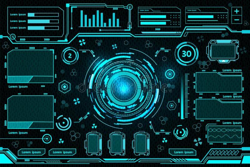 Tecnologia futuristica dell'interfaccia illustrazione vettoriale