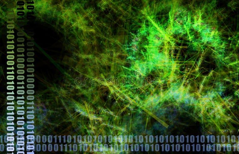 Tecnologia futuristica verde di scienza medica illustrazione vettoriale