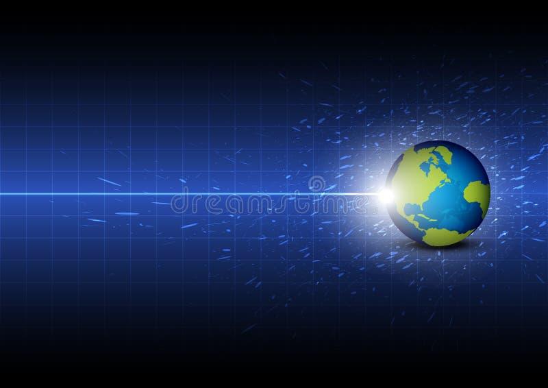 Tecnologia global digital futura ilustração stock