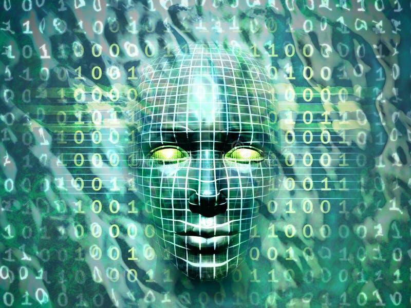 Tecnologia humana ilustração stock