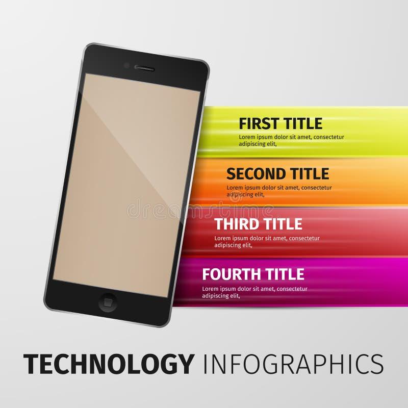 Tecnologia Infographics ilustração stock