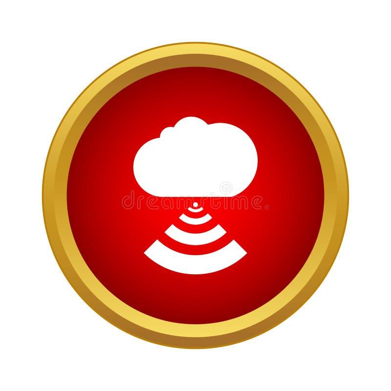 Tecnologia informática da nuvem com ícone do sinal dos wi fi ilustração do vetor
