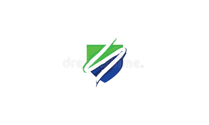 Tecnologia inicial do vetor do ícone do logotipo do protetor de S ilustração royalty free