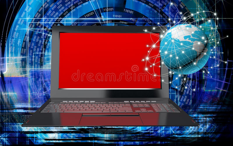 tecnologia innovatrice di Internet del computer per l'affare royalty illustrazione gratis