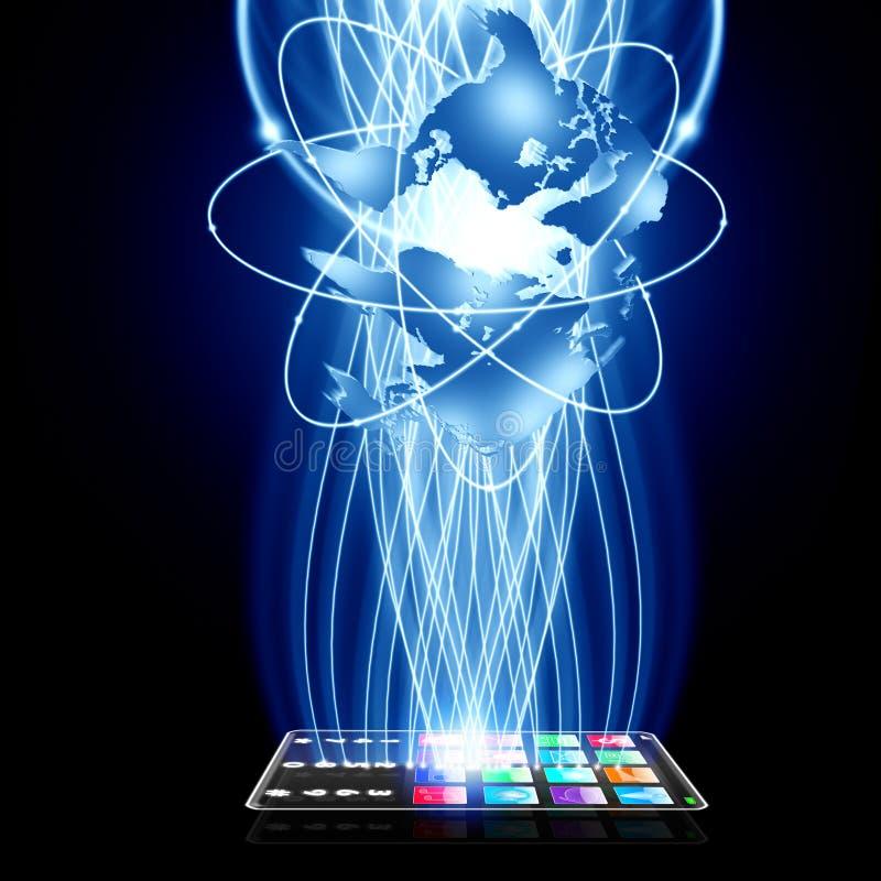 A tecnologia inteligente conecta ilustração do vetor