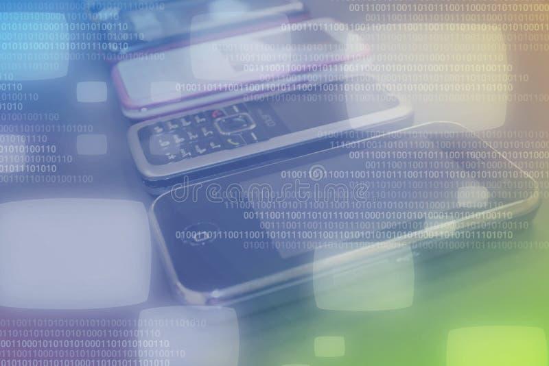 Tecnologia móvel dos dados imagens de stock royalty free