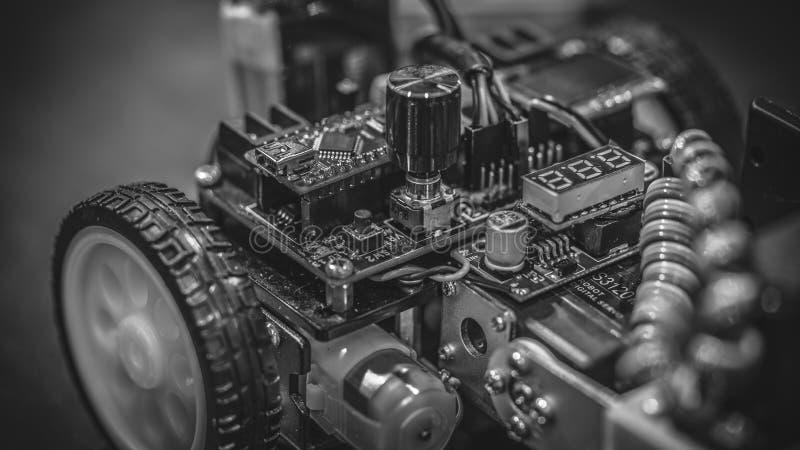 Tecnologia mecânica industrial do carro do robô fotografia de stock