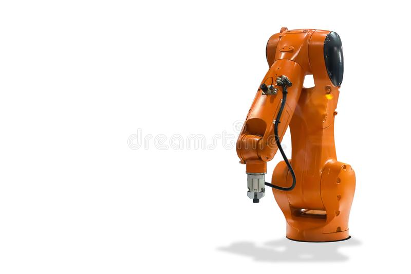 Tecnologia meccanica del robot industriale della mano royalty illustrazione gratis
