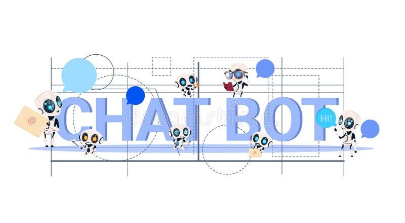 Tecnologia moderna del fondo geometrico dell'estratto di servizio di Chatbot del concetto del Bot di schiamazzo del supporto tecn illustrazione vettoriale