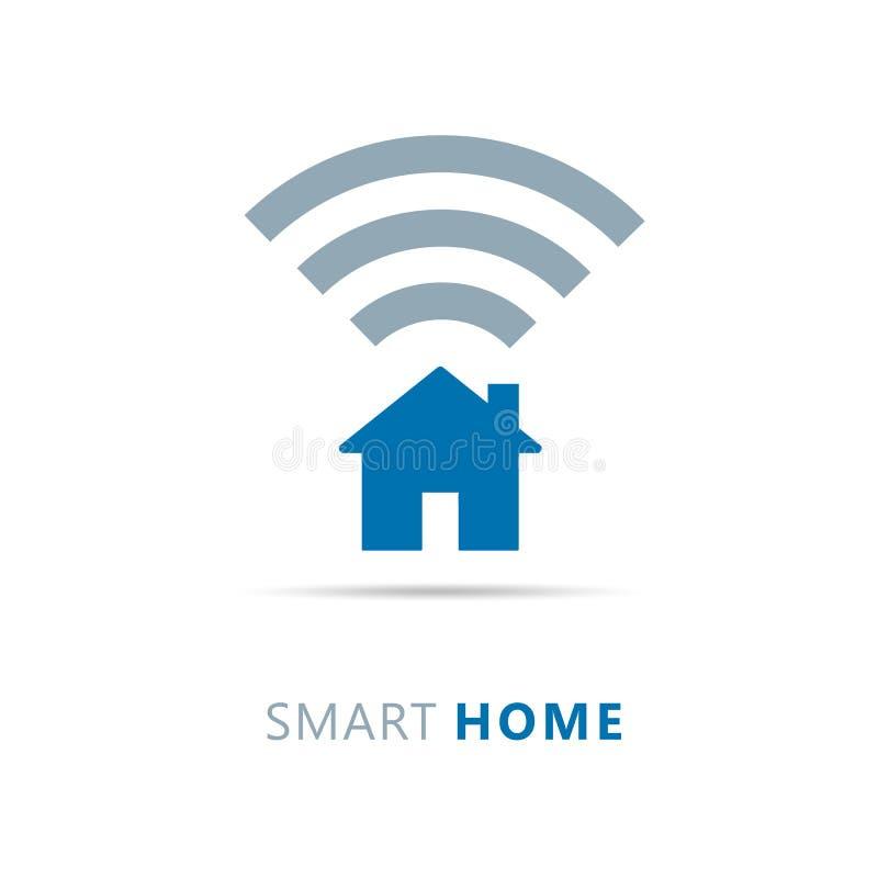 Tecnologia moderna di wifi domestico astuto dell'icona illustrazione di stock
