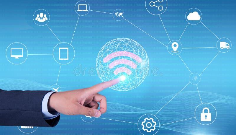 Tecnologia olografica di tocco del telefono cellulare immagine stock libera da diritti