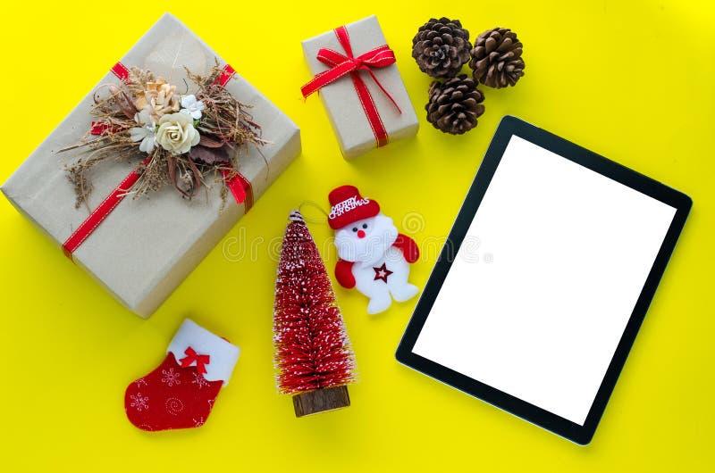 Tecnologia para enviar cumprimentos e presentes especiais fotografia de stock
