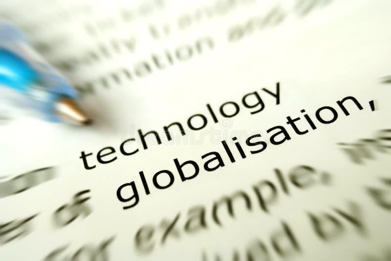 Tecnologia per il concetto di globalizzazione fotografia stock