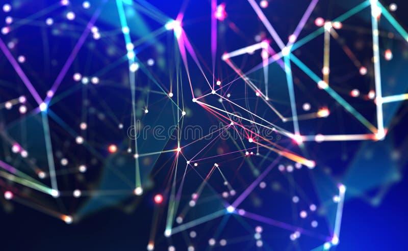 Tecnologia, rede global, movimento no espaço e no tempo Iluminação Festiva imagem de stock royalty free