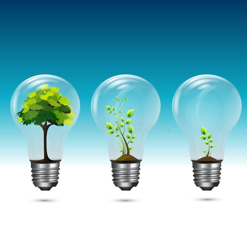 Tecnologia verde crescente ilustração do vetor