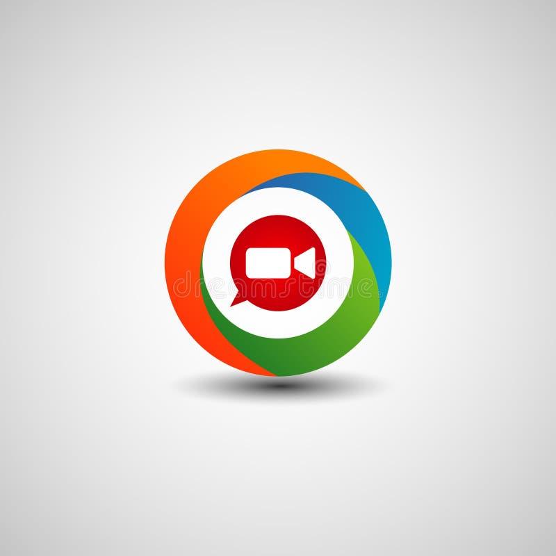 Tecnologia video Logo Sign Symbol Icon do Internet do bate-papo imagens de stock royalty free