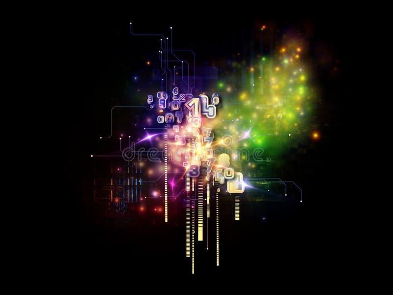 Tecnologia virtual da nuvem ilustração royalty free