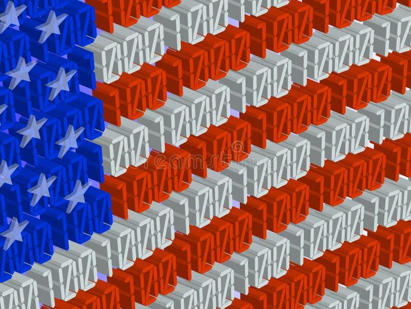 Tecnologias americanas ilustração royalty free