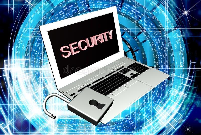 Tecnologias da conexão a Internet da segurança ilustração royalty free