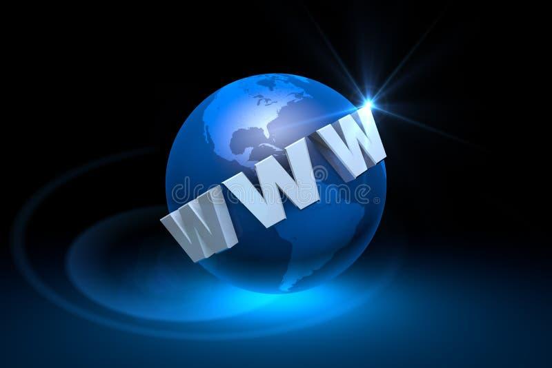 Tecnologias da Web A era de comunicações do Internet Globaliza ilustração royalty free