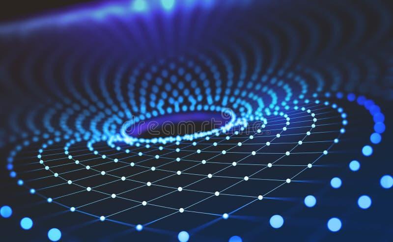 Tecnologias do futuro Funil da informação Rede global ilustração do vetor