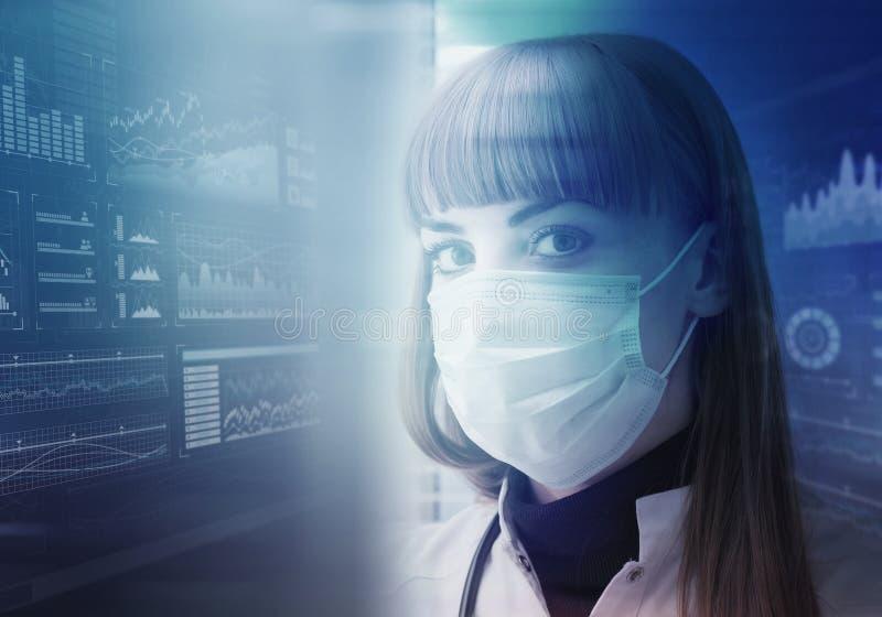 Tecnologias inovativas na ciência e na medicina foto de stock royalty free