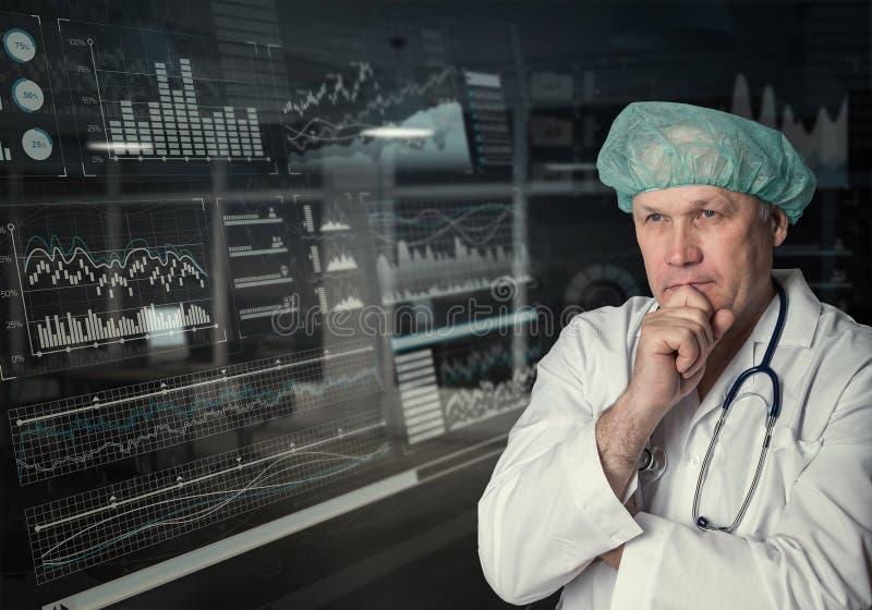 Tecnologias inovativas na ciência e na medicina fotos de stock royalty free