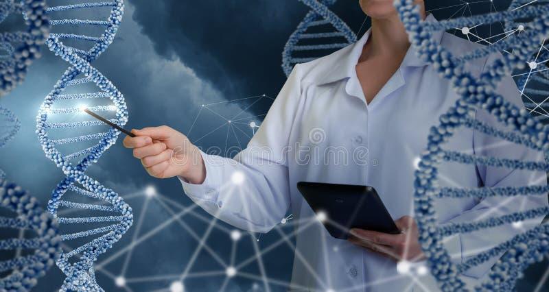 Tecnologias inovativas na ciência e na medicina fotografia de stock