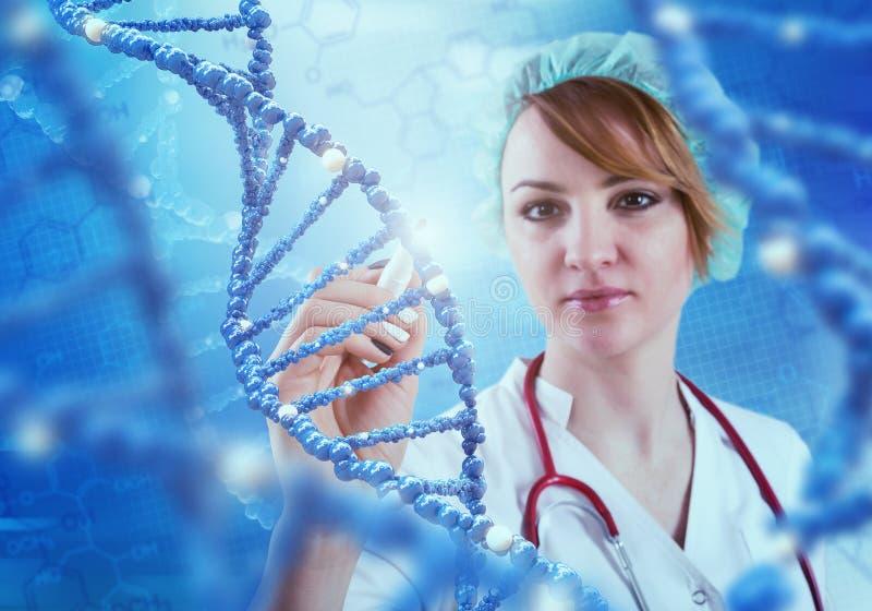 Tecnologias inovativas na ciência e na medicina ilustração 3D fotografia de stock royalty free