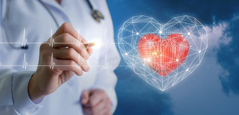 Tecnologias modernas dos diagnósticos do coração fotos de stock royalty free
