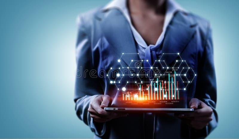 Tecnologias modernas dos meios para o negócio Meios mistos ilustração stock