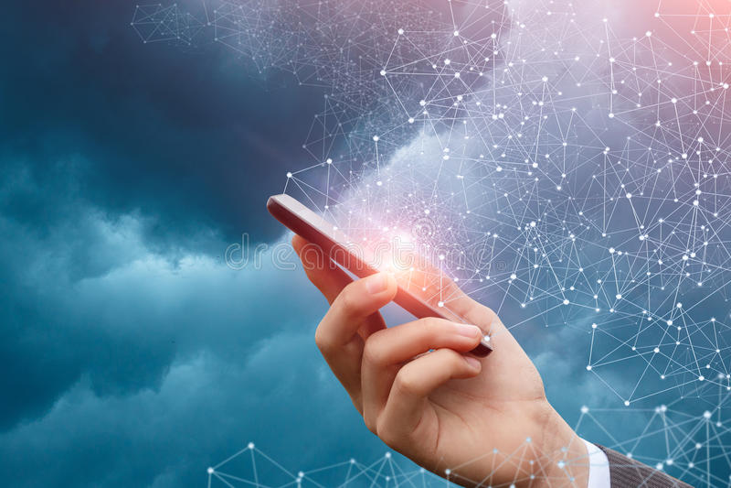 Tecnologias para usuários de conexão foto de stock royalty free