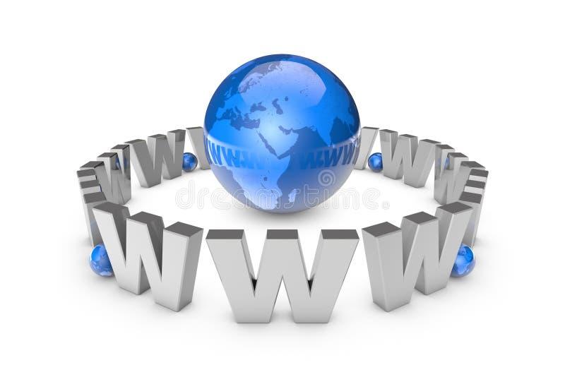 Tecnologie di web globalization Sistema internazionale di comunicazione illustrazione di stock
