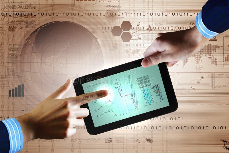 Tecnologie informatiche moderne nell'affare immagini stock libere da diritti