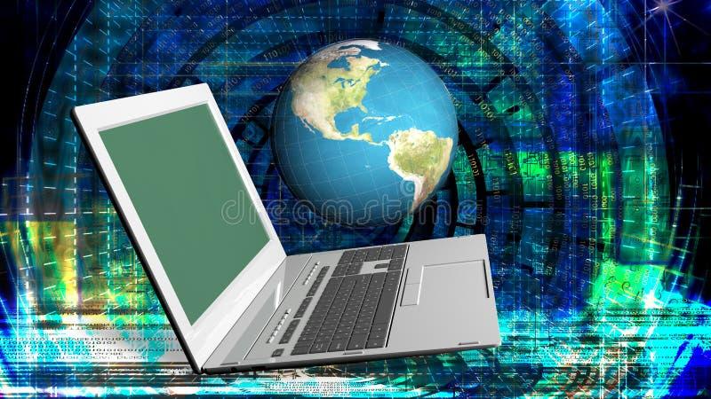 tecnologie innovarici di Internet del computer per l'affare illustrazione di stock