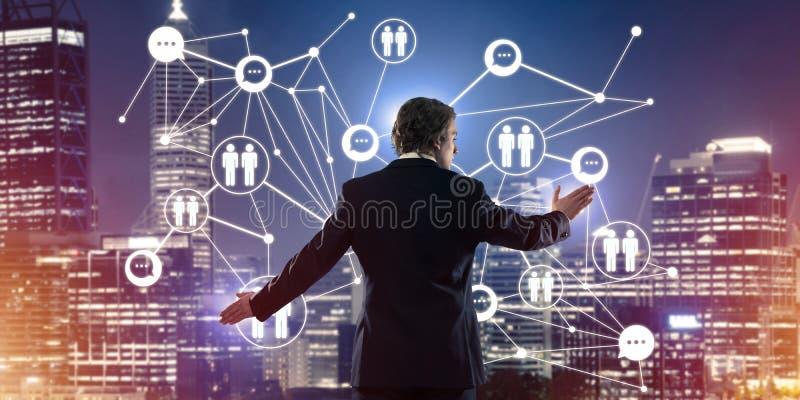 Tecnologie wireless e rete moderne come strumento per effectiv royalty illustrazione gratis