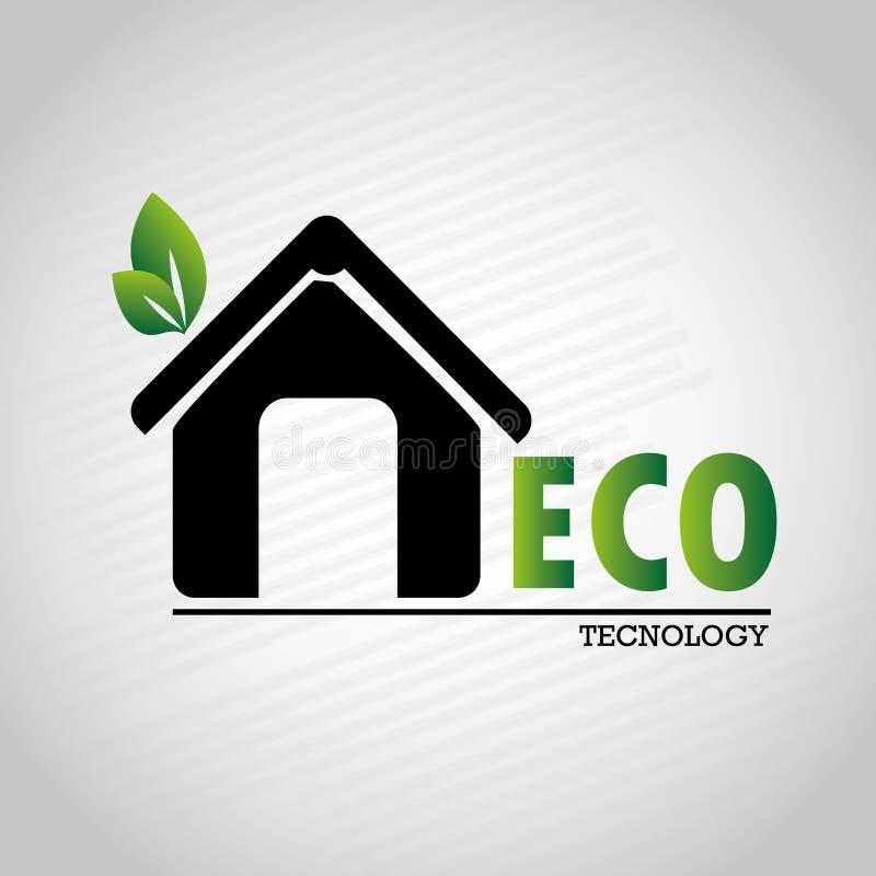 Tecnology de Eco ilustração stock