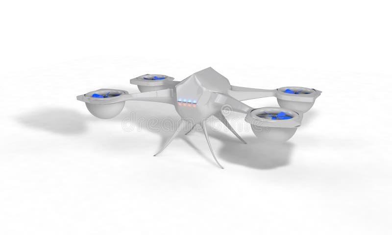 Tecnology drone model, 3d vector illustration