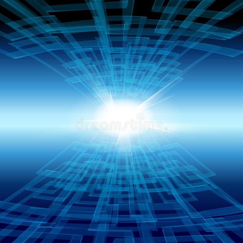 Tecnology Hintergrund stock abbildung