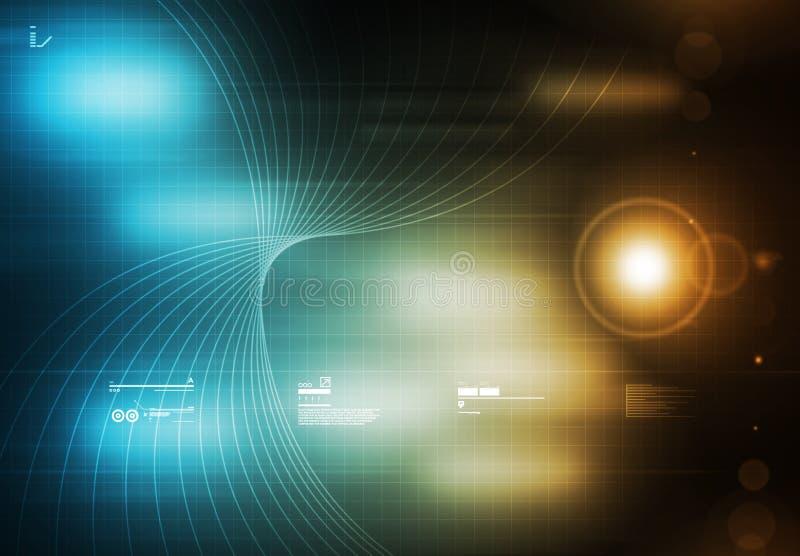 Tecnology Hintergrund-Blau stock abbildung