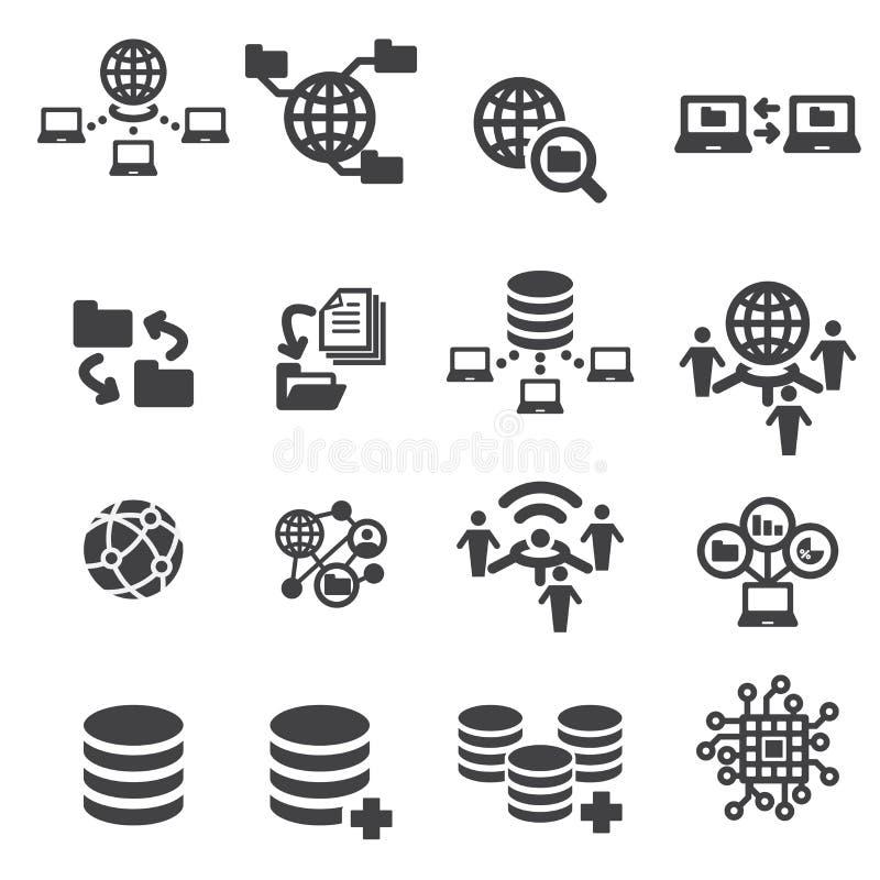 Tectnology en gegevenspictogram royalty-vrije illustratie