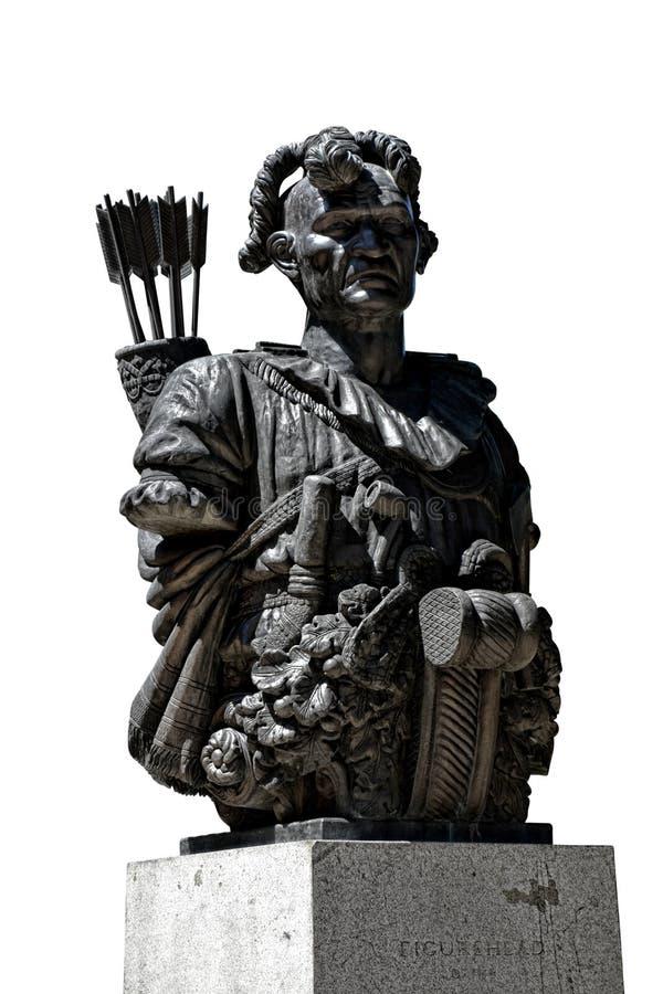 Tecumseh staty på den sjö- akademin för Förenta staterna royaltyfri bild