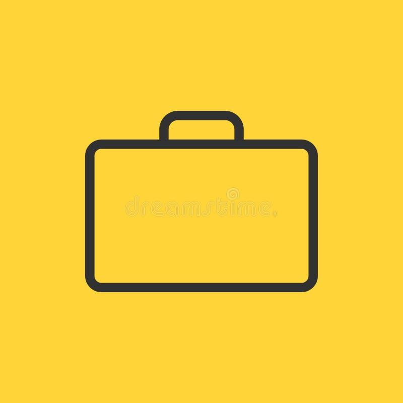 Teczki Cienka Kreskowa Wektorowa ikona Płaska ikona odizolowywająca na żółtym tle również zwrócić corel ilustracji wektora ilustracja wektor