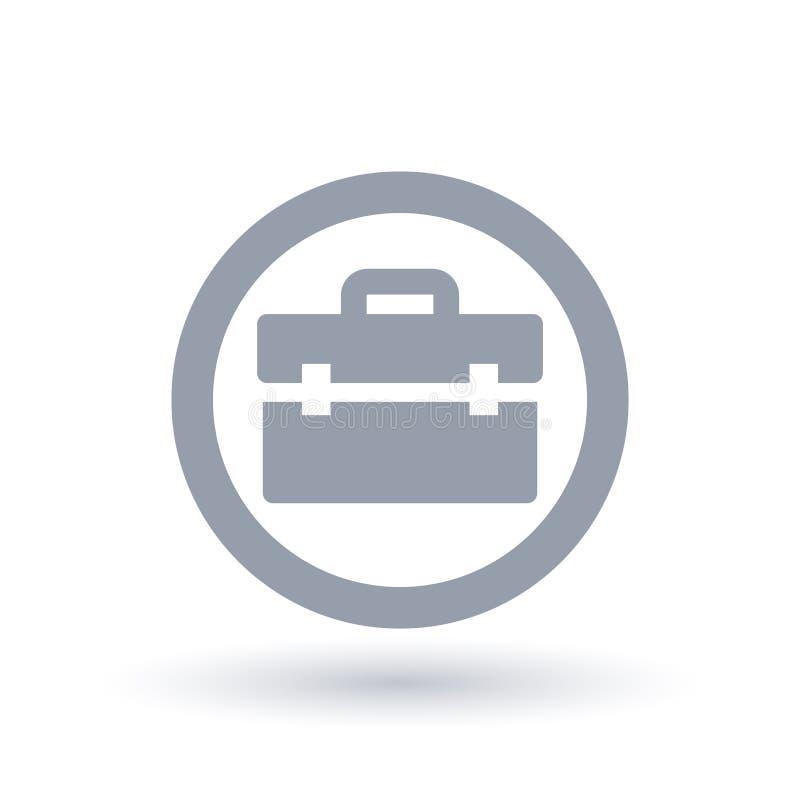 Teczki ikona - Biznesowy walizka symbol ilustracji