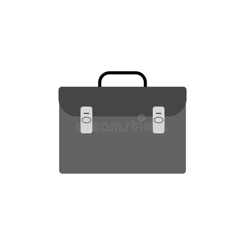 Teczki ikona lub logo, teczki szyldowa ikona, Biznesowa teczka ilustracji