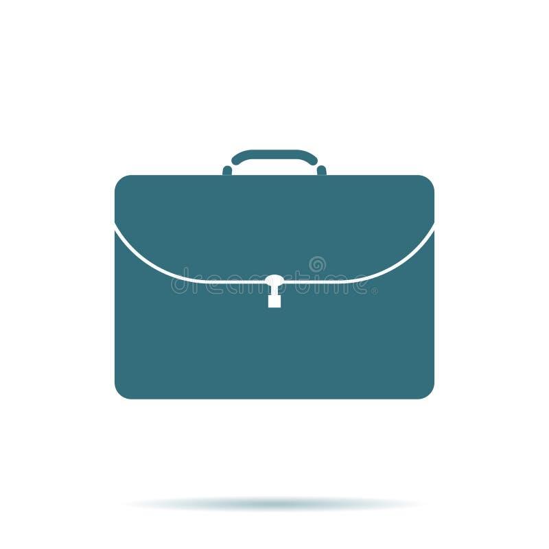 Teczki ikona Płaski portfolio symbol odizolowywający na białym tle Modny interneta pojęcie nowożytny royalty ilustracja
