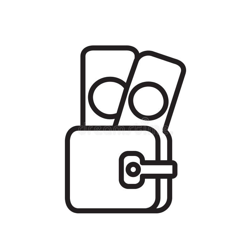 Teczki ikony wektor odizolowywający na białym tle, teczka si ilustracji