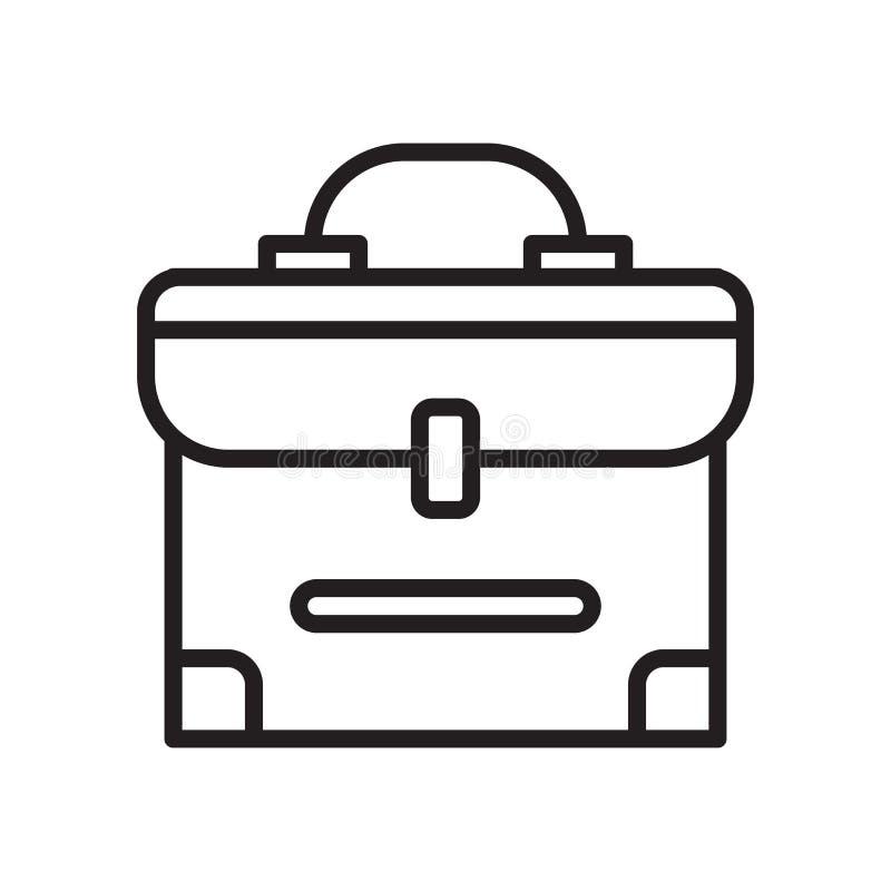 Teczki ikony wektoru znak i symbol odizolowywający na białym backgrou ilustracji