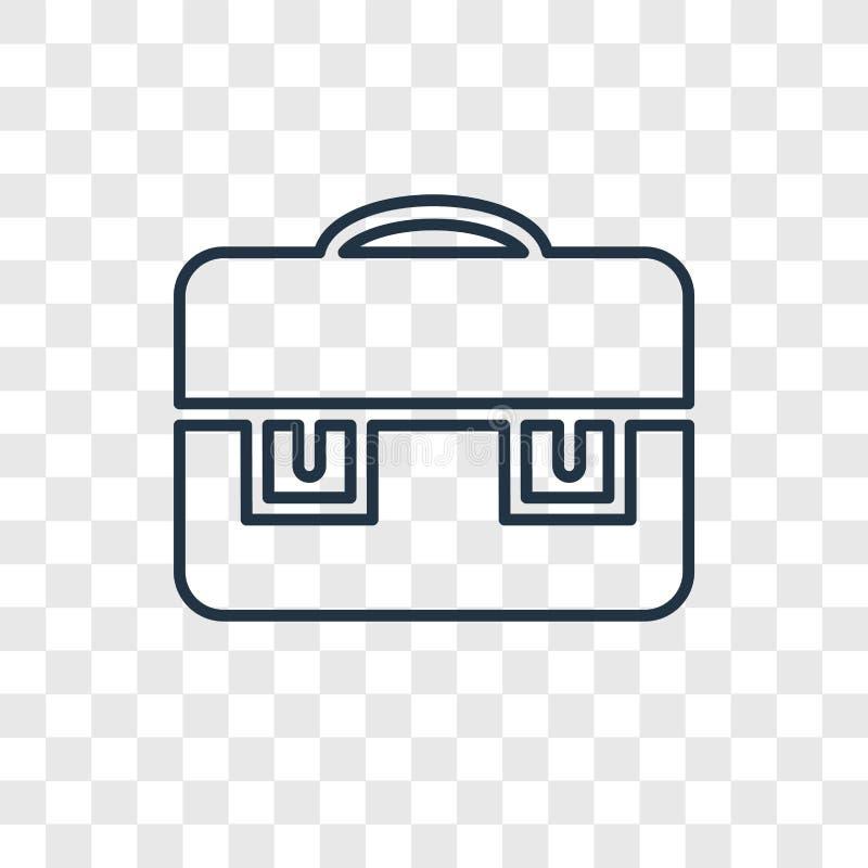 Teczki pojęcia wektorowa liniowa ikona odizolowywająca na przejrzystym bac ilustracja wektor