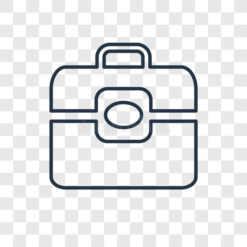 Teczki pojęcia wektorowa liniowa ikona odizolowywająca na przejrzystym bac royalty ilustracja